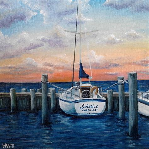 nautical painting nautical sailboat oil painting ocean art boat by