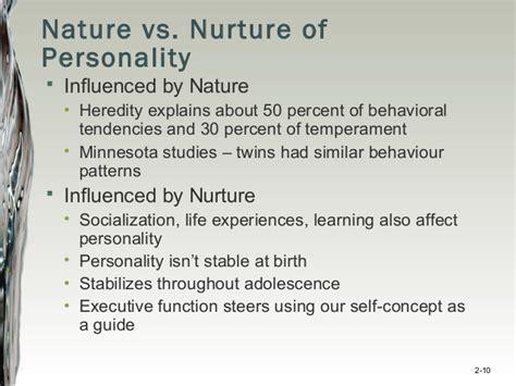 exle of nature vs nurture image gallery nature nurture personality