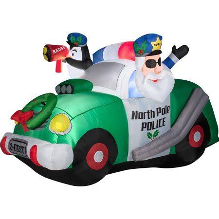 christmas policeman for yard 4 pole airblown prop walmart