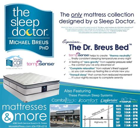 Dr Mattress by Mattresses More 187 The Doctor Breus Bed