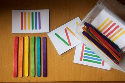 Sticks Card Template by Printables Popsicles Crafts And Bags
