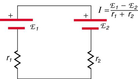 resistor circuit with two batteries resistors in series and parallel boundless physics