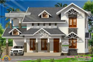 Nice Home Design Pictures nice sloped roof kerala home design kerala home design