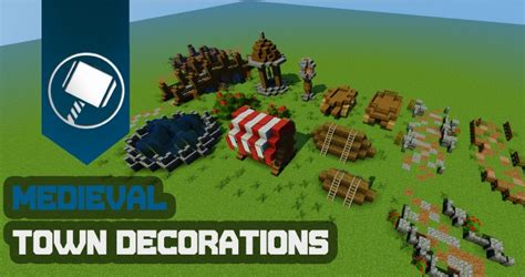 Home Decoration For Small House by Medieval Town Decorations Tutorial Minecraft Project