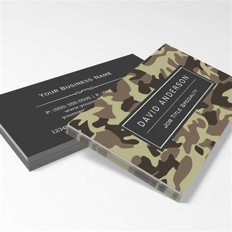 Camouflage Background Business Card Templates by 300 Creative And Inspiring Business Card Designs Page13