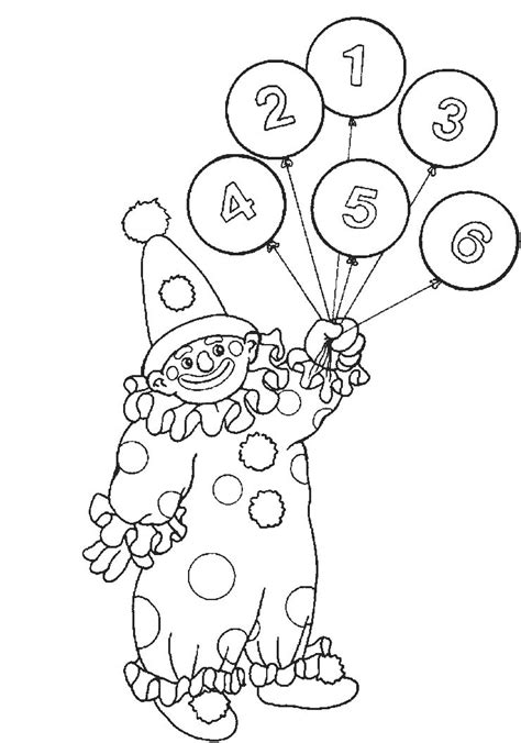 clown template preschool free printable circus coloring pages for