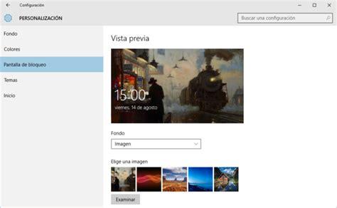 imagenes windows 10 pantalla bloqueo personalizar pantalla de bloqueo de windows 10