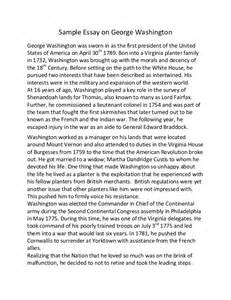 I Like Writing Essays by Sle Essay On George Washington