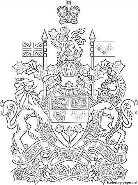 canada coat  arms coloring page coloring pages