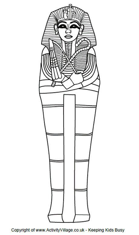 sarcophagus colouring page