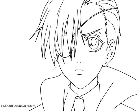 black butler ciel and sebastian coloring pages coloring pages