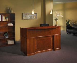 mayline sorrento reception desk mayline sorrento reception desk with counter bourbon