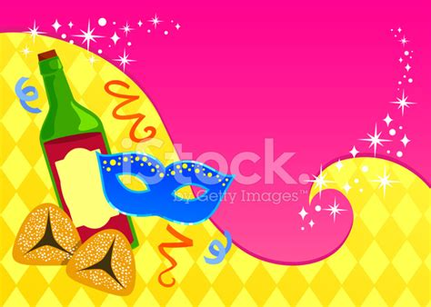 purim card template purim card template stock vector freeimages