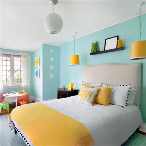 teal and yellow bedroom home dzine decorate with turquoise and yellow