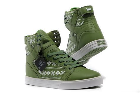 leaf shoes skytop skate shoes green white leaf shoes the supra shoes