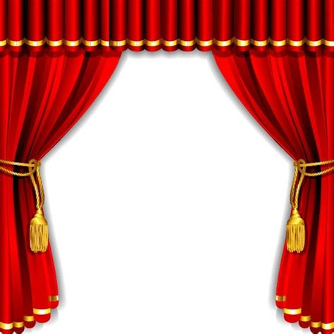 curtain graphic gorgeous curtain of red 01 vector free vector in
