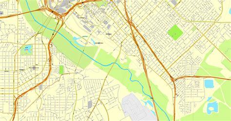 dallas texas us map vector map dallas tx us cityplan 3mx3m ai pdf 11