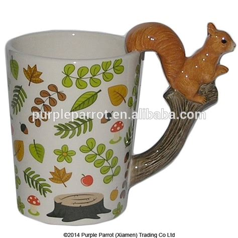 animal shaped mugs woodland animals squirrel shaped handle mug buy animal