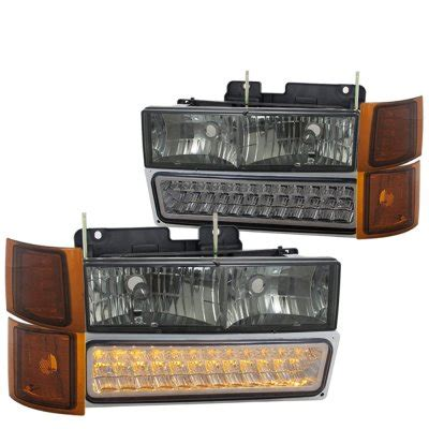 1996 gmc lights 1996 gmc smoked headlights and led bumper lights