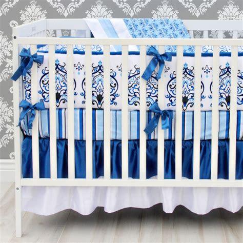 Navy Blue Baby Crib by Navy Blue Damask Crib Bedding Transitional