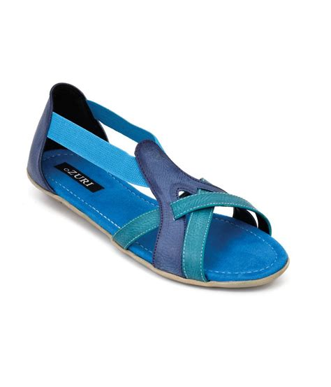 covered toe sandals ozuri blue toe covered back flat sandals price in