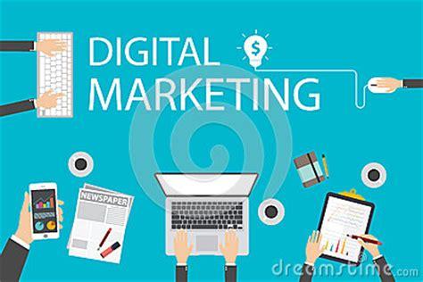 flat design illustration concept for digital marketing