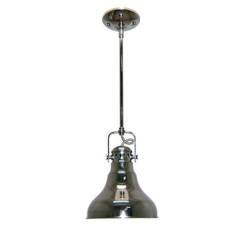 Allen And Roth Pendant Light Allen Roth 8 1 In W Polished Nickel Mini Pendant Light With Metal S
