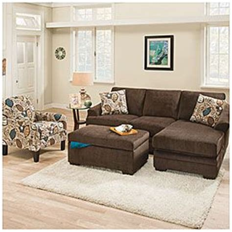 sunflower living room simmons 174 sunflower brown sofa with reversible chaise big lots my home decor