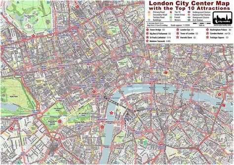 printable map london city centre london city center street map free pdf download