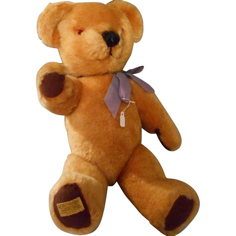 Merrythought Wish vintage 15 inch gold mohair teddy by merrythought with growler from eleanorslegacy on ruby
