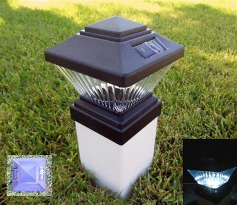 Solar 4x4 Post Lights Matte Black Solar Fence Post Cap Lights Fits Pvc 4x4 Posts