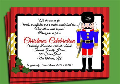Printable Nutcracker Invitations | christmas invitation printable nutcracker delight