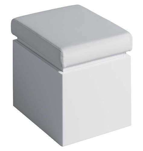 Bathroom Stool Storage Twyford All White Finish Bathroom Seat With Storage Ta0901wh