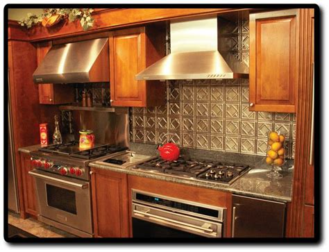 stainless steel backsplash for stove 1000 images about kitchen backsplashes on kitchen backsplash design copper and stove