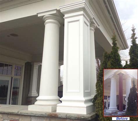pvc column wraps column covers post covers  elite