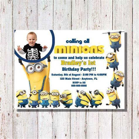 Baby Shower Invitation Templates Minion Birthday Invitations Easytygermke Com Invitation Minion Baby Shower Invitation Template