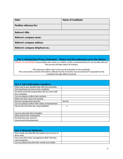reference check template best employment reference checking template free