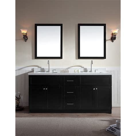 73 Inch Bathroom Countertop by Ariel Hamlet 73 Quot Sink Vanity Set With White Quartz