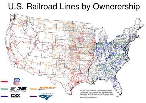 railway maps usa map attacks who owns america s railroads