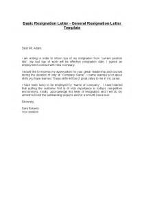 Simple Letter Of Resignation by Simple Letter Of Resignation Template Best Business Template