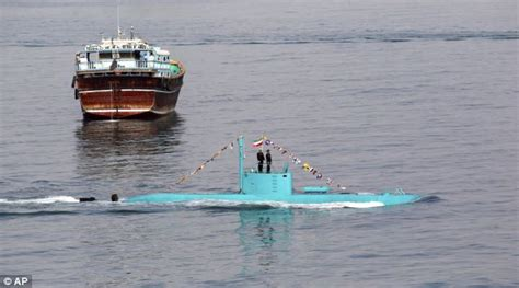 like a boat out of the blue iran s navy showcases its bright new warship but can
