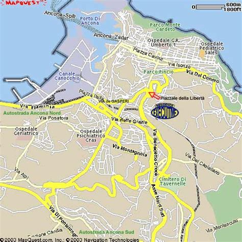 map of ancona italy the detailed map to reach the executive residence of
