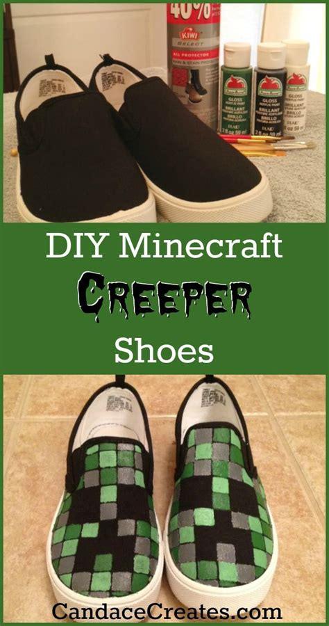 diy creeper shoes diy minecraft shoes kid minecraft shoes and minecraft