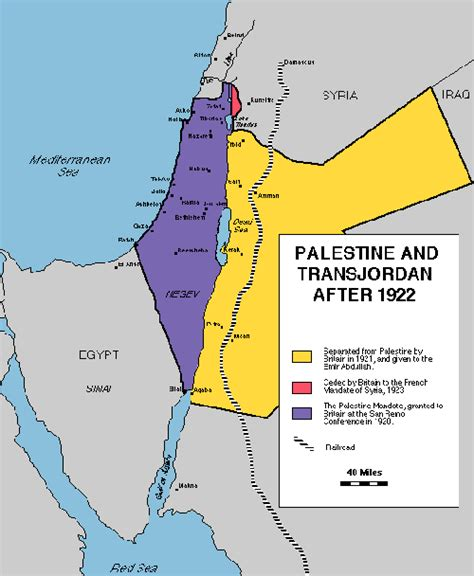 middle east map palestine map of palestine and transjordan 1922