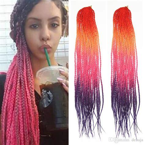colorful braiding hair colourful twist synthetic braiding hair mambo