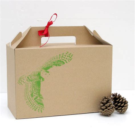design gifts screen printed owl design gift box by rolfe wills