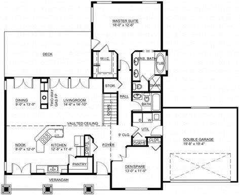 monster house floor plans craftsman style house plans 1537 square foot home 1