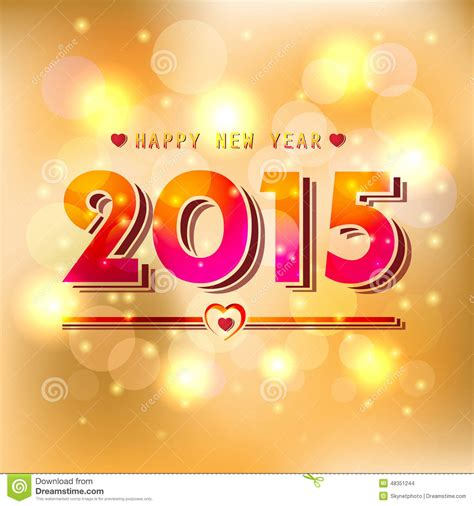 new year 2015 illustration happy new year 2015 stock vector image 48351244