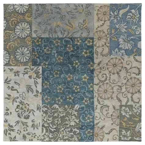 8x8 area rugs home depot kaleen calais autumn leaves blue 8 ft x 8 ft square area rug 7504 17 8x8 the home depot