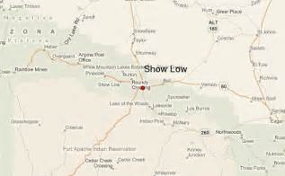 map of show low arizona show low location guide
